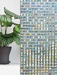 cheap -Window Film & Stickers Decoration Geometric Geometric PVC(PolyVinyl Chloride) Window Sticker / Mirrored