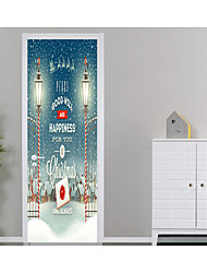 cheap -Door Stickers - 3D Wall Stickers Christmas Decorations / Holiday Living Room / Bedroom