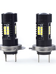 cheap -2pcs H7 / P×26d Car Light Bulbs 21 W SMD 3030 2100 lm 21 LED Fog Light For Mercedes-Benz SL550 All years