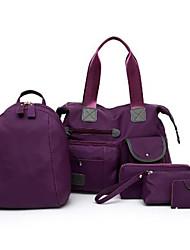 economico -Unisex Sacchetti Nylon sacchetto regola Set di borse da 5 pezzi Cerniera Beige / Viola / Fucsia