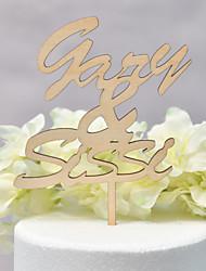 economico -Decorazioni torte Classico / Matrimonio Amore Legno / Bambù Matrimonio / Anniversario con 1 pcs OPP