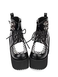 economico -Scarpe Lolita Classica e Tradizionale / Punk Punk / Gotico Polacche Scarpe Monocolore 8 cm CM Nero Per PU
