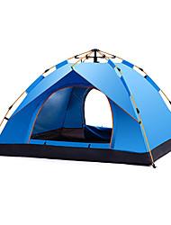 baratos -DesertFox® 4 pessoas Barracas de Acampar Leves Único Automático Dome Barraca de acampamento Ao ar livre Á Prova-de-Chuva para Campismo / Escursão / Espeleologismo 1500-2000 mm Tecido Oxford, Oxford