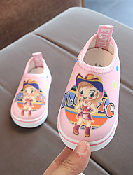 preiswerte -Mädchen Schuhe Leinwand Frühling Lauflern Sneakers für Baby Schwarz / Rot / Rosa