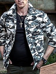 Недорогие -Муж. Спорт Большие размеры Куртка камуфляж, Хлопок / Длинный рукав