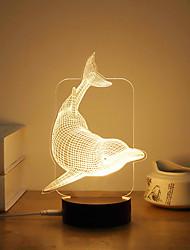 billige Originale lamper-1set 3D nattlys Varm hvit Usb Kreativ / Stress og angst relief / Verneutstyr 5 V