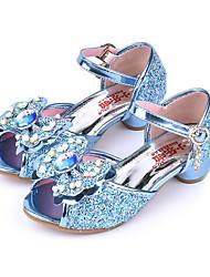 abordables -Fille Chaussures Polyuréthane Printemps & Automne Chaussures de Demoiselle d'Honneur Fille Sandales Noeud / Boucle pour Enfants Bleu / Rose / Bout ouvert / Soirée & Evénement