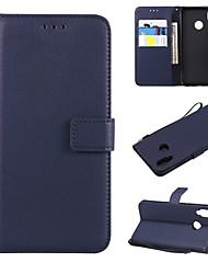 baratos -Capinha Para Huawei P20 / P20 Pro Carteira / Porta-Cartão / Flip Capa Proteção Completa Sólido Rígida PU Leather para Huawei P20 / Huawei P20 Pro / Huawei P20 lite / P10 Lite / P10