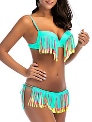 povoljno -Žene Bikini - Color block, Cheeky gaćice