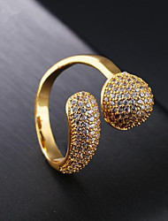 cheap -Women's Cubic Zirconia Cluster Band Ring - 18K Gold Star Fashion 7 / 8 Gold For Party / Daily