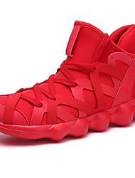 abordables -Unisexe Chaussures Toile Automne hiver Confort Chaussures d'Athlétisme Course à Pied Talon Plat Noir / Rouge / Noir / blanc
