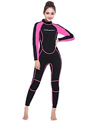 cheap -Women's Full Wetsuit 3mm SCR Neoprene Diving Suit Anatomic Design, UV Resistant Long Sleeve Back Zip Patchwork Autumn / Fall / Spring / Winter