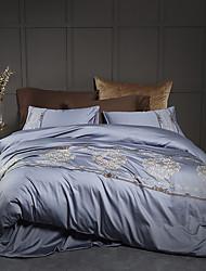 cheap -Duvet Cover Sets Contemporary 100% Cotton / 100% Egyptian Cotton Embroidery 4 Piece
