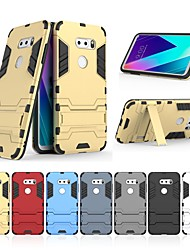 cheap -Case For LG LG V30+ / LG V30S ThinQ with Stand Back Cover Solid Colored Hard PC for LG V30+ / LG V30S ThinQ