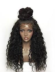 abordables -Perruque Lace Front Synthétique Bouclé Coupe Dégradée Cheveux Synthétiques Ligne de Cheveux Naturelle Noir Perruque Femme Long Dentelle frontale / Oui