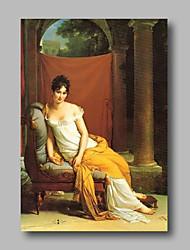abordables -Peinture à l'huile Hang-peint Peint à la main - Personnage Classique / Rétro Toile
