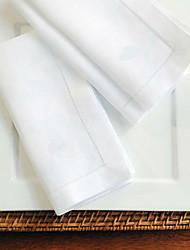 Недорогие -Классика Хлопок Квадратный Салфетки-подстилки Однотонный Настольные украшения 12 pcs