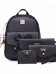 cheap -Women's Bags PU(Polyurethane) Backpack Bow(s) Black / Gray