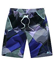 billige -Herre Aktiv / Boheme Joggingbukser Bukser Geometrisk / Farveblok
