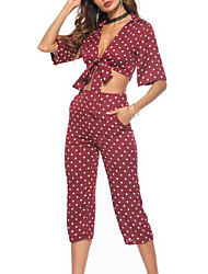cheap -Women's Blouse - Polka Dot Pant