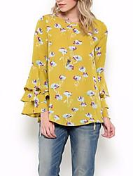 abordables -Mujer Básico Estampado Camiseta Geométrico