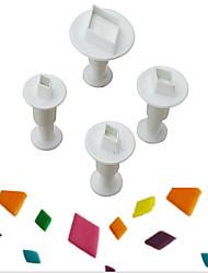 Недорогие -Инструменты для выпечки пластик Творчество / Своими руками Печенье / Cupcake / конфеты Формы для пирожных / Формы для нарезки печенья 4шт