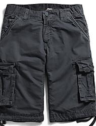 abordables -Hombre Básico Tallas Grandes Chinos Pantalones - Un Color