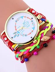 cheap -Xu™ Women's Bracelet Watch / Wrist Watch Chinese Creative / Casual Watch / Adorable PU Band Bohemian / Fashion Black / White / Blue / Large Dial / One Year