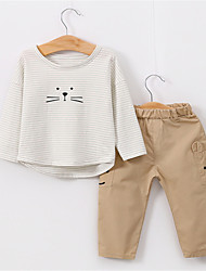 cheap -Baby Boys' Solid Colored Long Sleeve Clothing Set