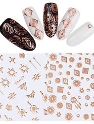 baratos -2 pcs Adesivos arte de unha Manicure e pedicure Colorido Decalques de unha Casamento / Festa / Dia a Dia