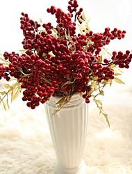 cheap -Artificial Flowers 5 Branch Rustic / Wedding Flowers Christmas Tree / Eternal Flower Tabletop Flower