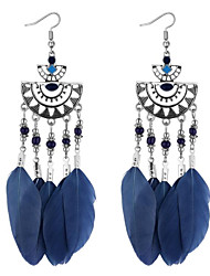 cheap -Women's Tassel Drop Earrings - Drop Tassel, Bohemian, Ethnic Rainbow / Light Red / Dark Navy For Party / Evening / Going out