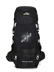 cheap -55-75 L Hiking Backpack / Rucksack - Rain-Proof, Wearable, Breathability Outdoor Hiking, Climbing, Camping Nylon Dark Blue, Blue, Silver+Orange