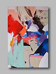 economico -Hang-Dipinto ad olio Dipinta a mano - Astratto Contemporaneo Tela