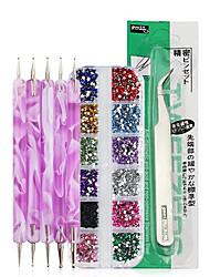 Недорогие -1 комплект Формы для ногтей Инструмент для ногтей Комплект сверла для ногтей Модный дизайн / Творчество маникюр Маникюр педикюр Профессиональный / Аксессуары для инструментов Nail Art DIY