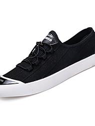 Недорогие -Муж. обувь Полотно Лето Удобная обувь Кеды Черный / Серый