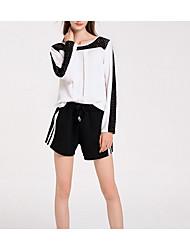 cheap -Women's Basic Blouse - Solid Colored / Color Block Cut Out