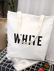 cheap -Women's Bags Canvas Tote Pattern / Print Black / Blushing Pink / Yellow