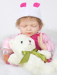 baratos -FeelWind Bonecas Reborn Bebês Meninas 20 polegada Silicone de corpo inteiro - realista de Criança Para Meninas Dom