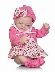 billige -NPKCOLLECTION Reborn-dukker Babypiger 12 inch Fuld krops silicone Silikone Vinyl - Nyfødt livagtige Børnesikker Ikke Giftig Smuk Tippede og forseglede negle Børne Pige Legetøj Gave