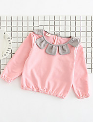 cheap -Baby Girls' Street chic Floral / Color Block Long Sleeve Cotton Tee / Toddler