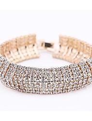 preiswerte -Damen Mehrschichtig Tennis Armbänder - Süß, Modisch Armbänder Gold / Silber Für Party Verabredung