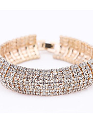 billiga -Dam Lager-på-lager Tennis Armband - Ljuv, Mode Armband Guld / Silver Till Party Datum