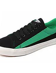 Недорогие -Муж. обувь Полотно Лето Удобная обувь Кеды Серый / Черный / зеленый