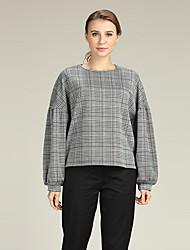 economico -Per donna Sleeve Lantern Pullover Pied-de-poule