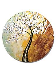 preiswerte -Hang-Ölgemälde Handgemalte - Blumenmuster / Botanisch Zeitgenössisch / Modern Segeltuch