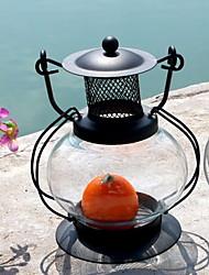 Недорогие -Европейский стиль Стекло / Железо Подсвечники На одну свечу 1шт, Свеча / подсвечник