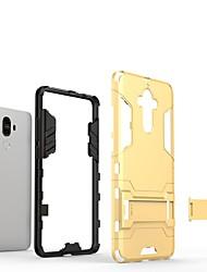 abordables -Funda Para Huawei Mate 9 con Soporte Funda Trasera Un Color Dura ordenador personal para Mate 9