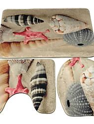 baratos -1pç Casual Tepetes de Banheiro Bambu, mistura de algodão Geométrica Irregular Banheiro Non-Slip / Criativo