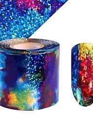 abordables -1 pcs Autocollant pour ongles Décalques pour ongles Nail Art Design Coloré Usage quotidien / Festival